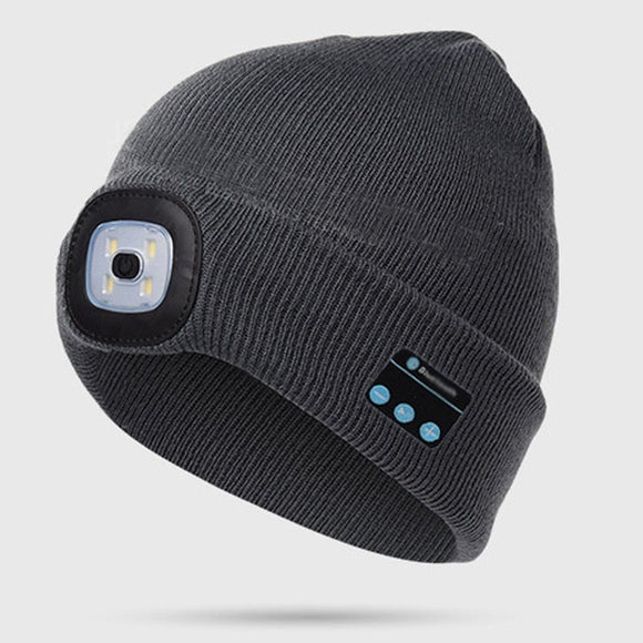 Warm Beanie Bluetooth Speaker And LED