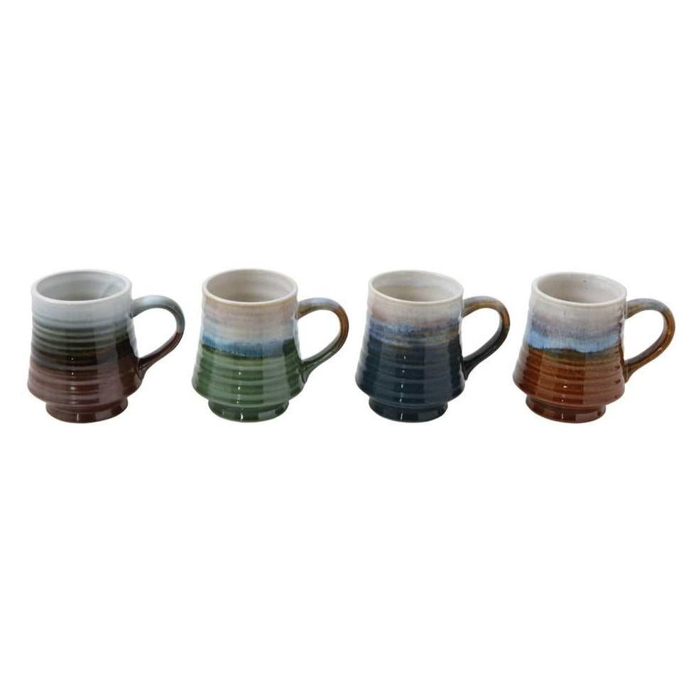 Glazed Stoneware Mugs