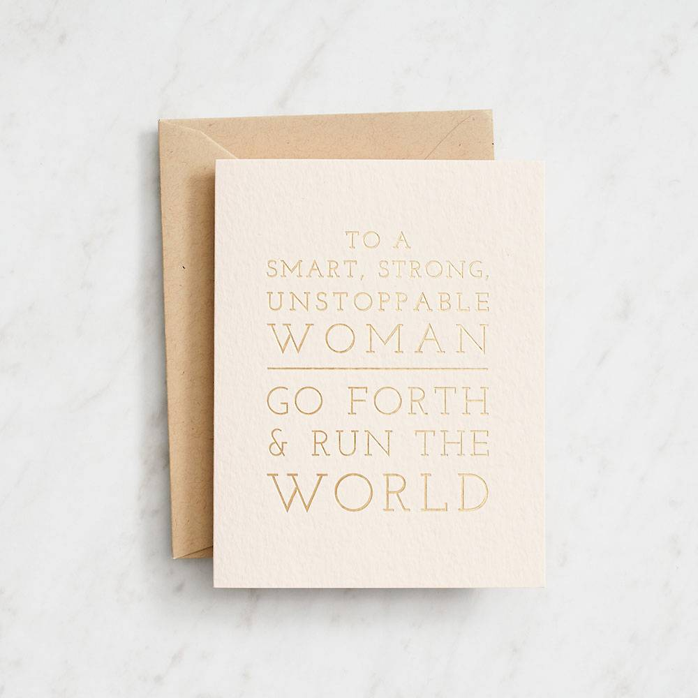 Run the World Graduation Card