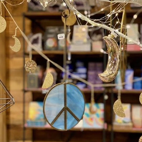 Stain Glass Peace Ornaments