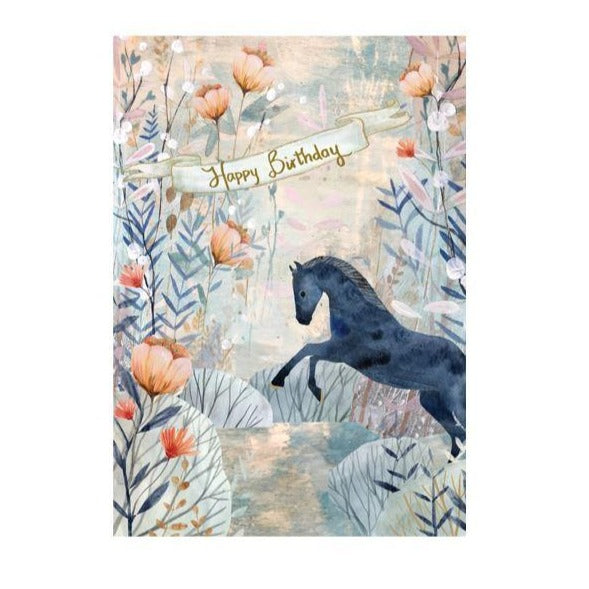 Watercolor Horse Birthday Card