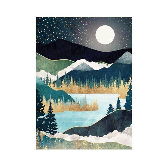 Star Lake Birthday Card
