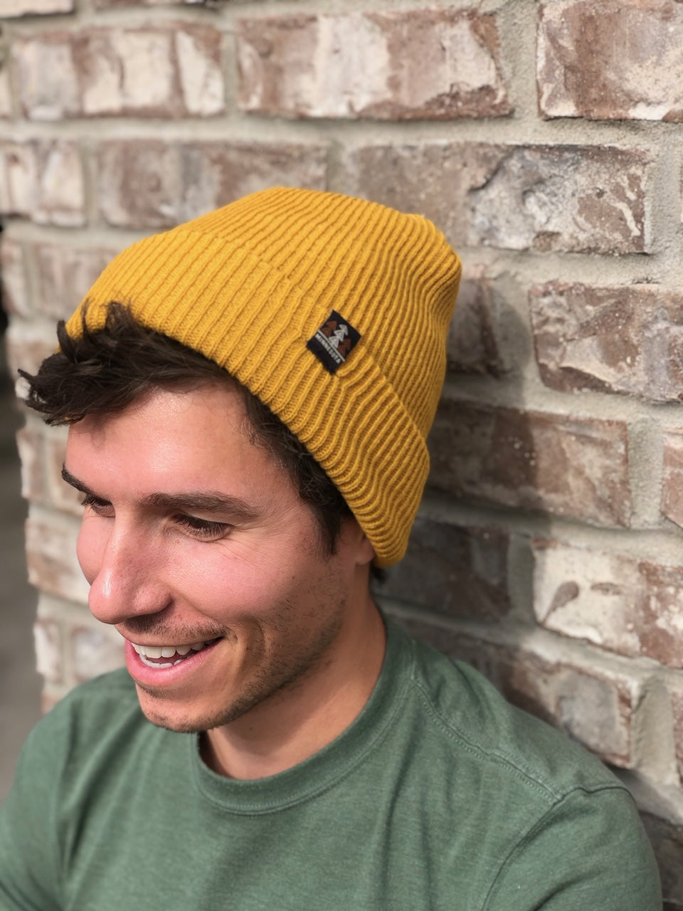 Mustard Slouch Knit Beanie