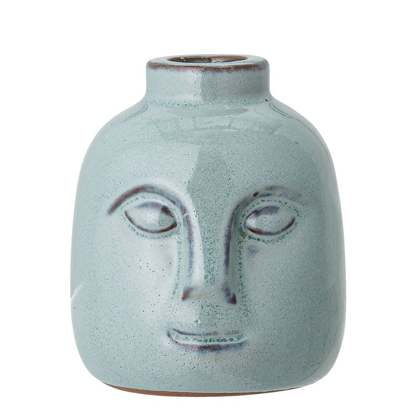 Blue Face Candle Holder