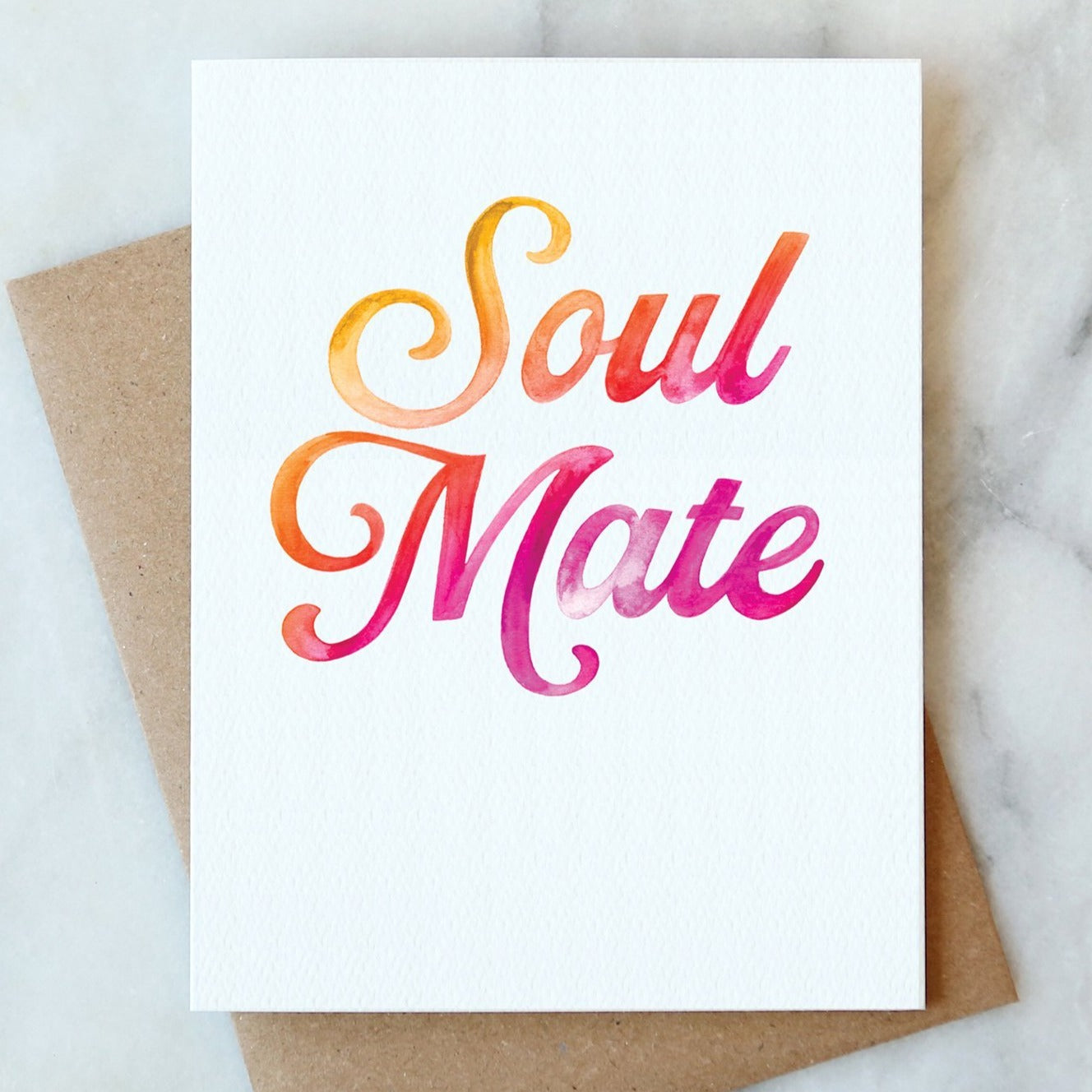 Soul Mate Watercolor Card