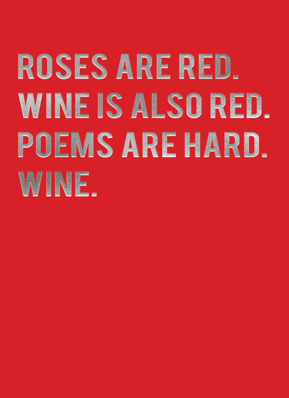 Wine is Red Blank Card