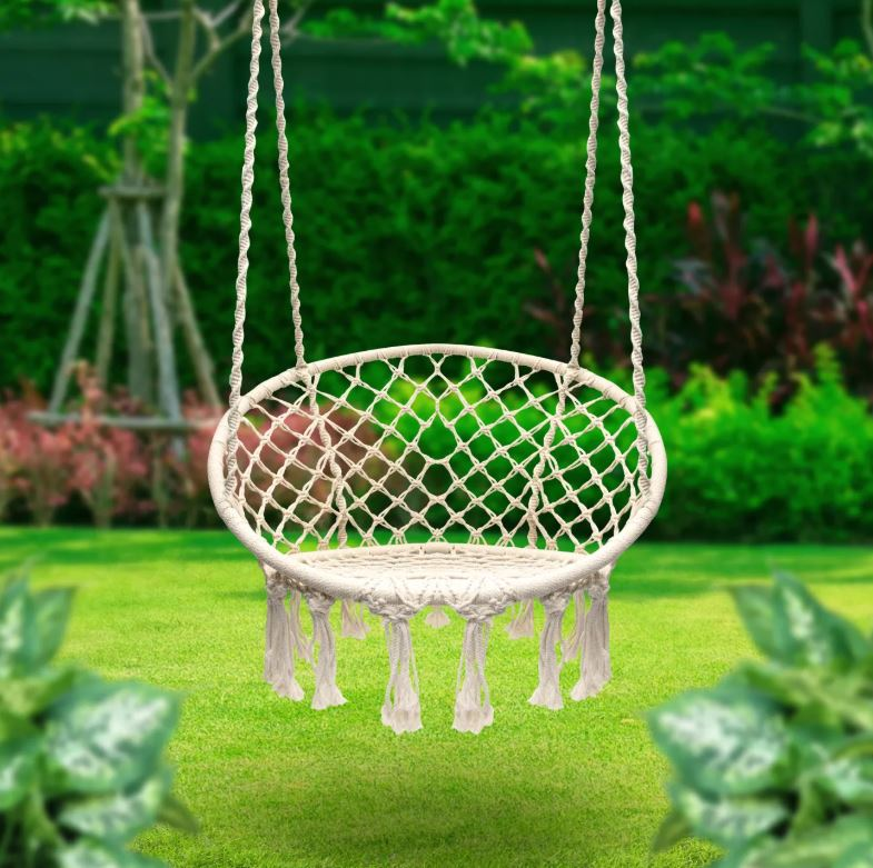 Cream Hammock Chair