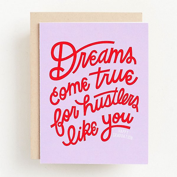Dreams Come True Graduation Card