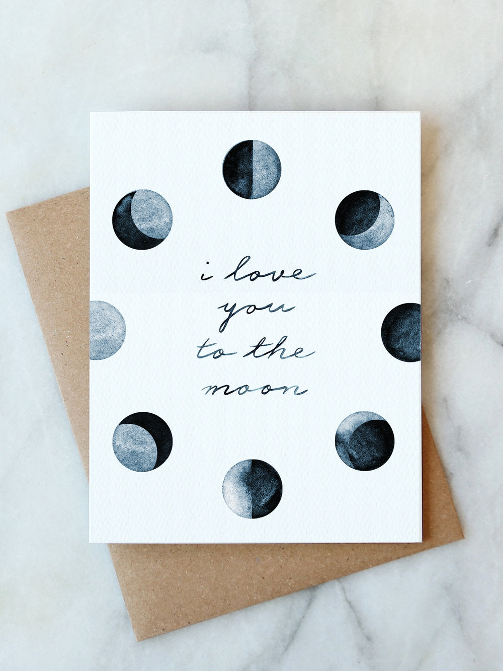 To The Moon & Back Blank Card