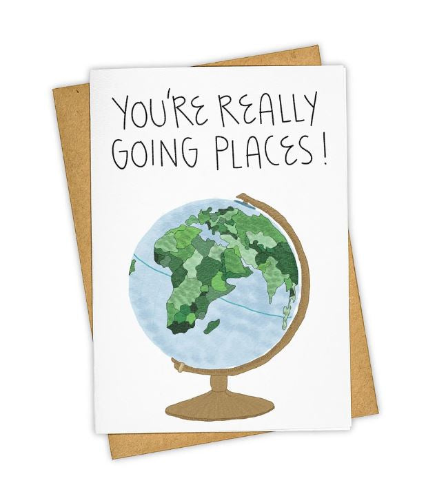You're Really Going Places Blank Card