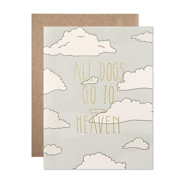 Dogs go to Heaven Sympathy Card