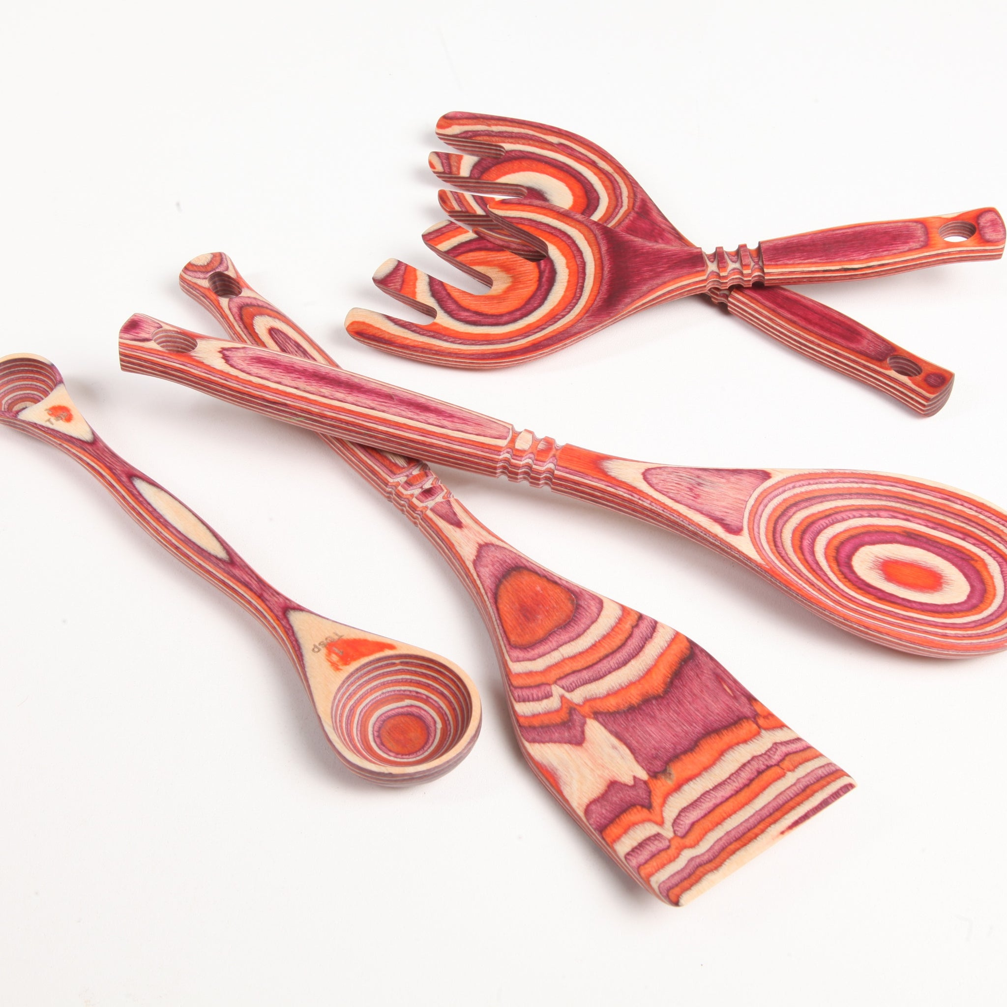 Red Pakka Utensil Collection