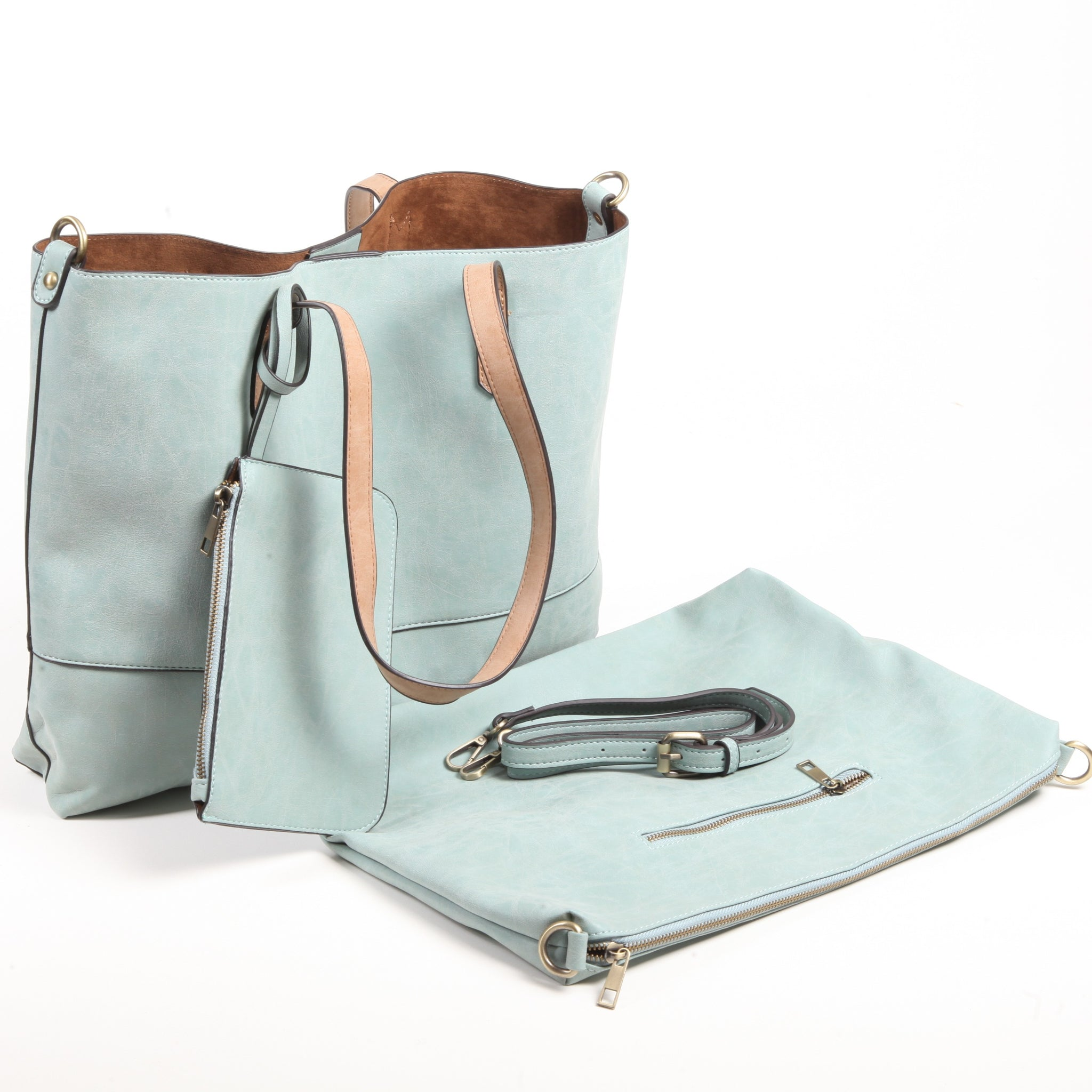 Two-In-One Mint Tote Bag