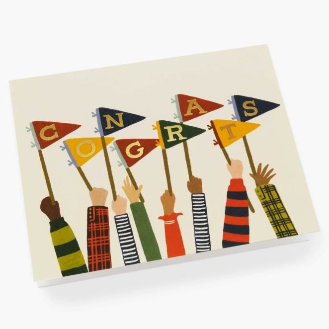 Congrats Pennants Congratulation Card
