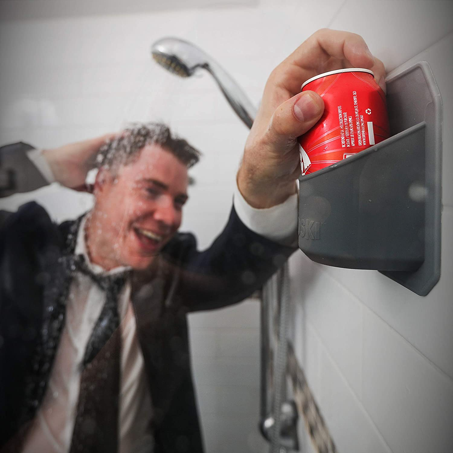 Grey Shower Beer Holder