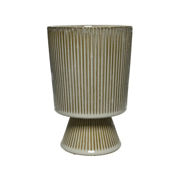 Striped Footed Pot