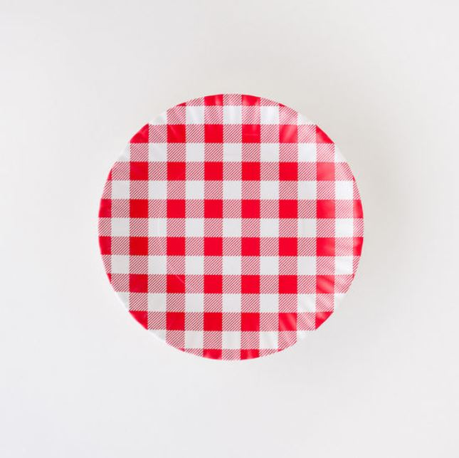 Gingham Melamine Plates set of 4