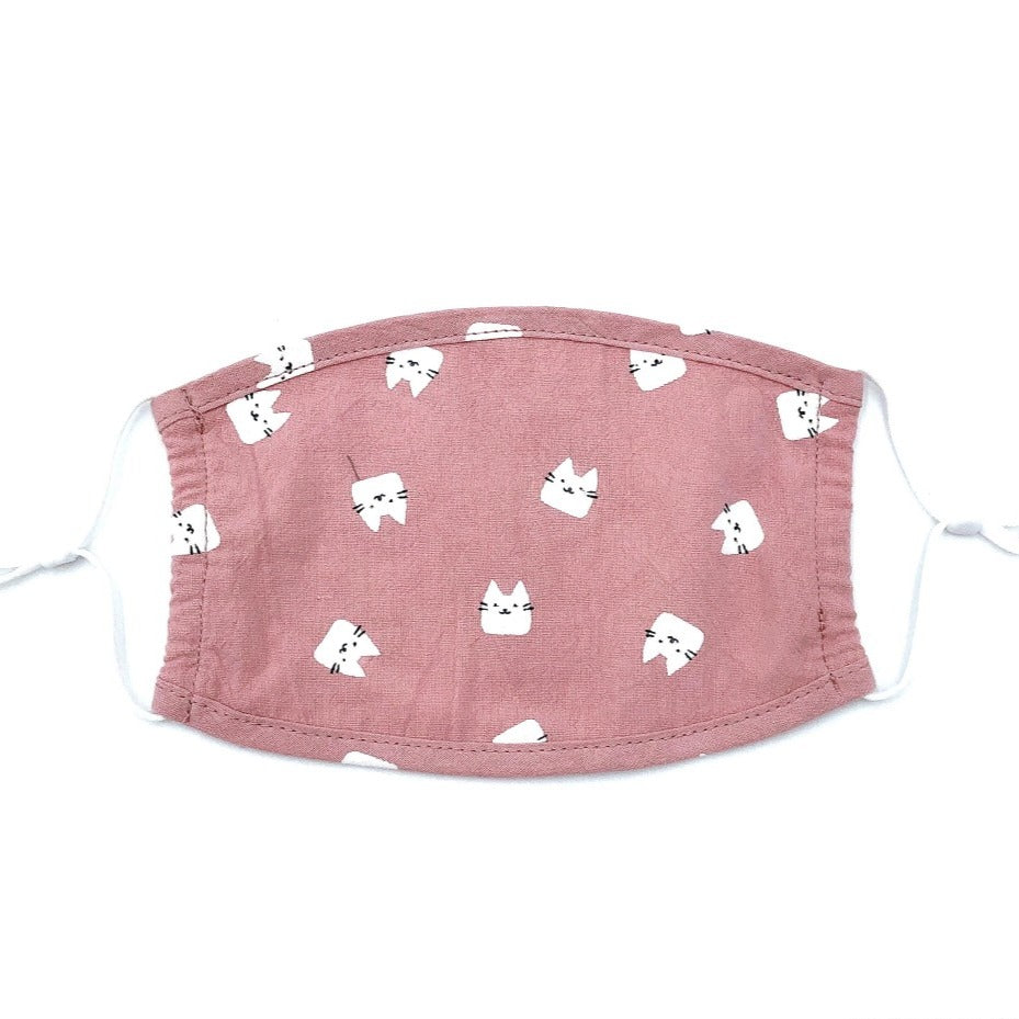 Youth Pink Kittens Face Mask