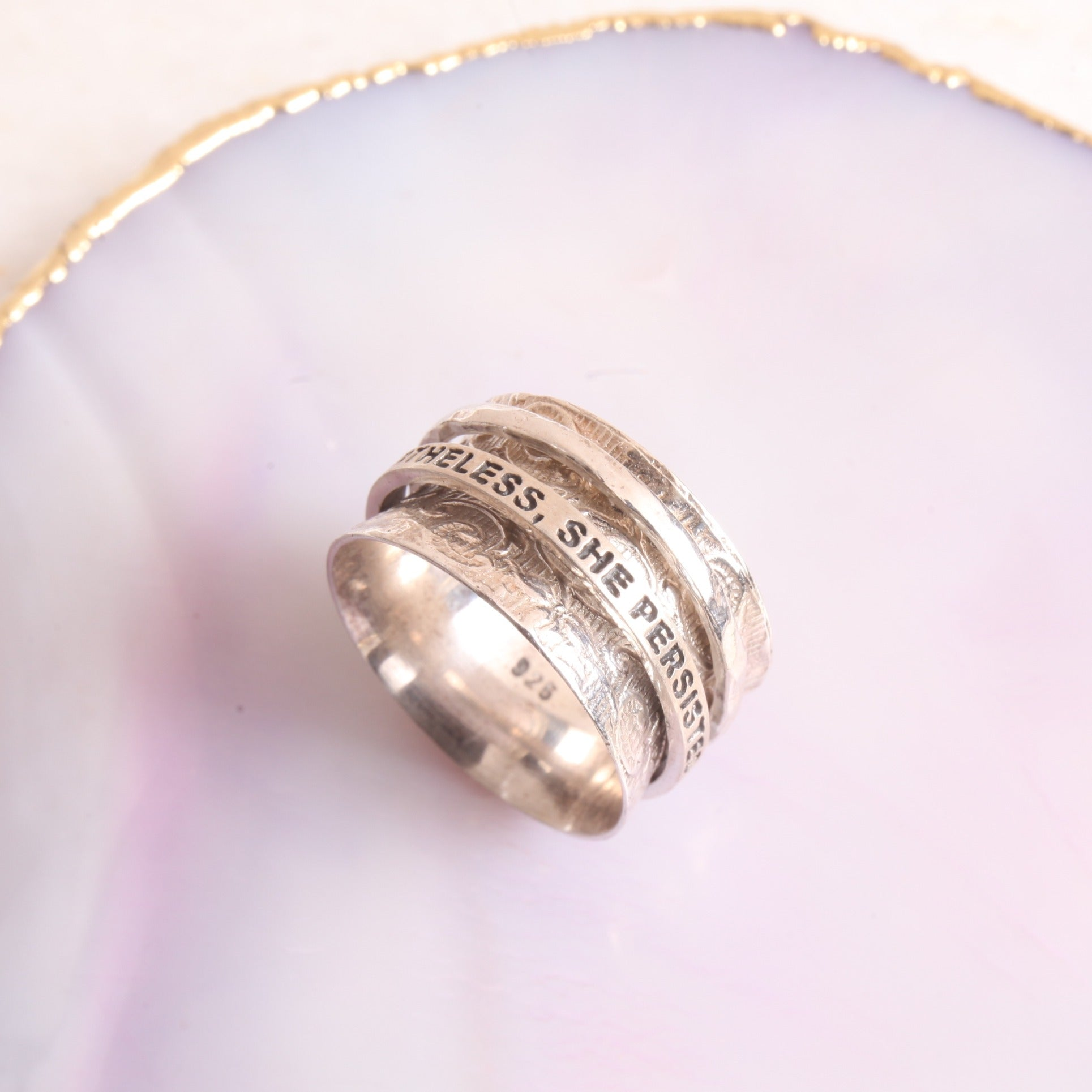 She Persisted Spinner Ring