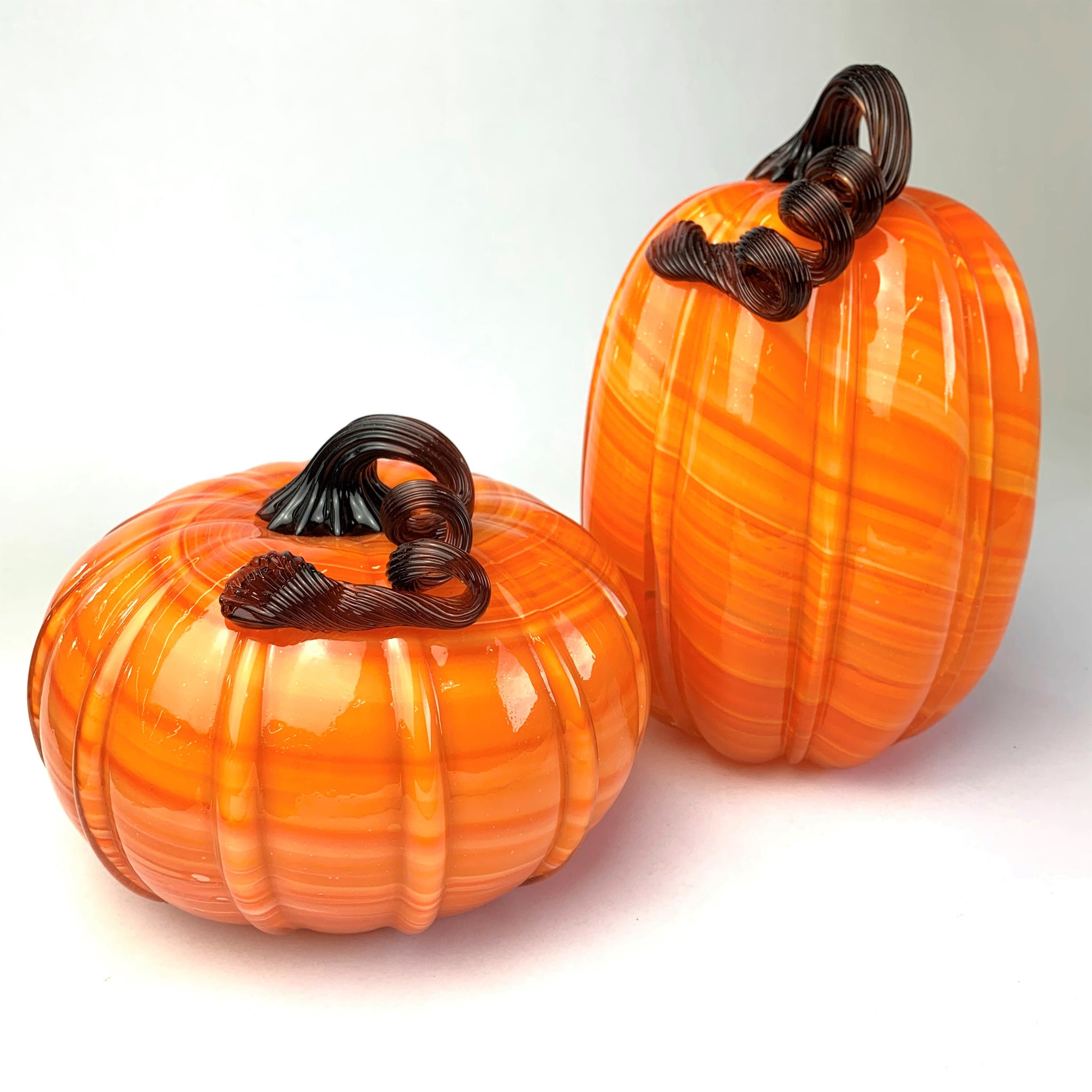 Large Glass Pumpkin Decor