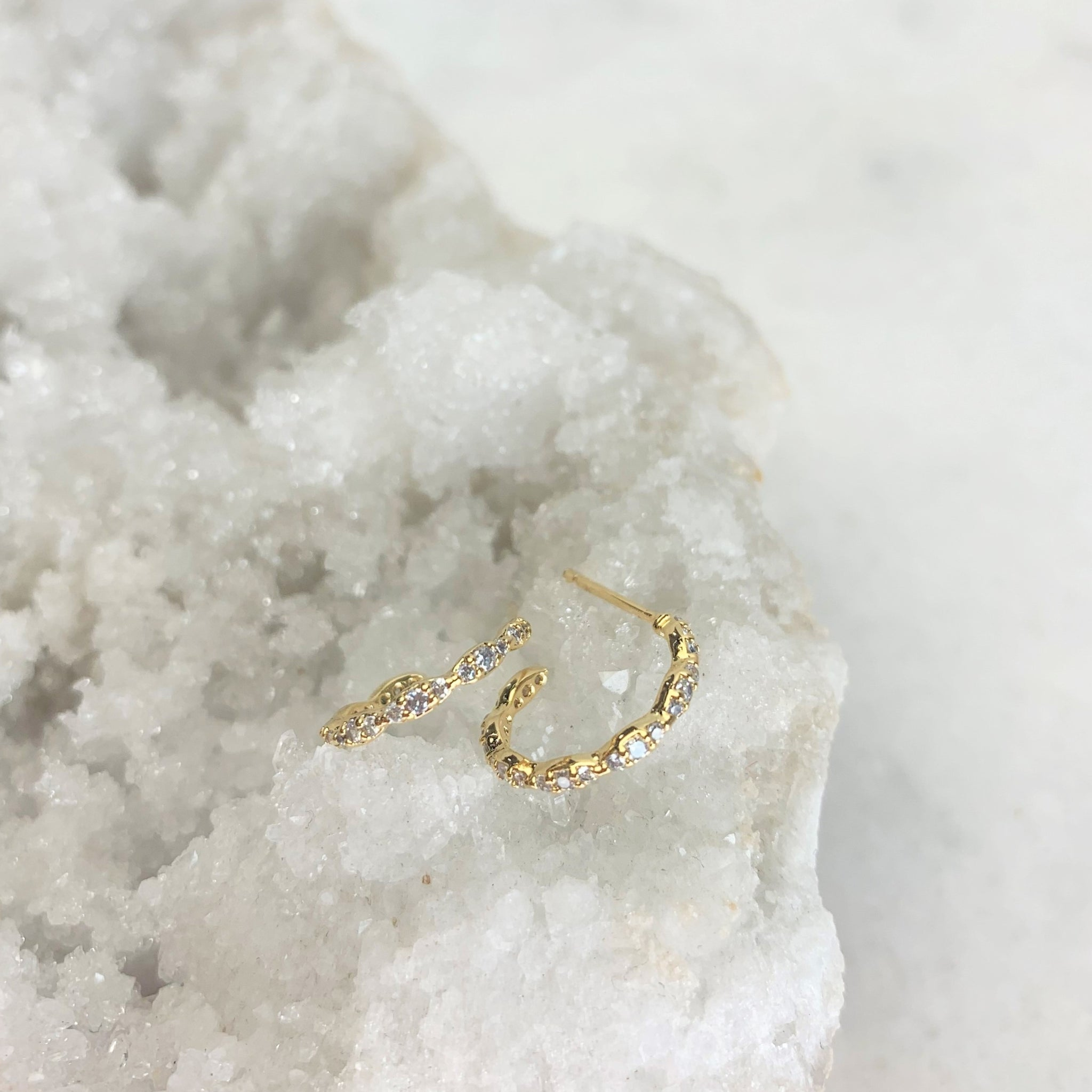 Tiny Pave Hoops