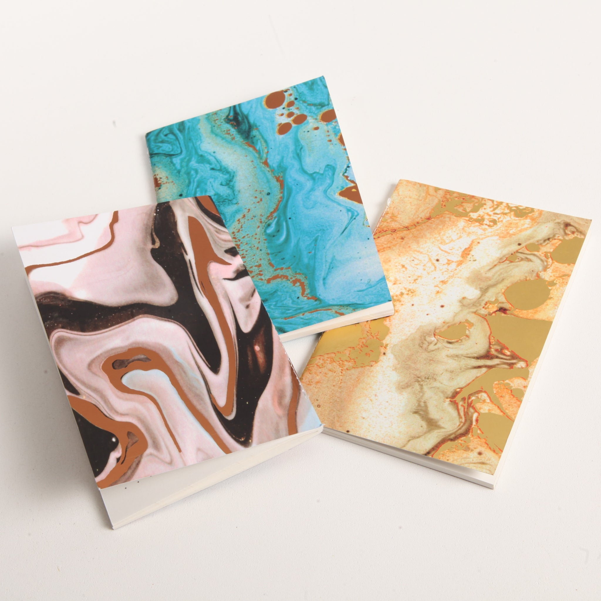Set of 3 Marble Journals
