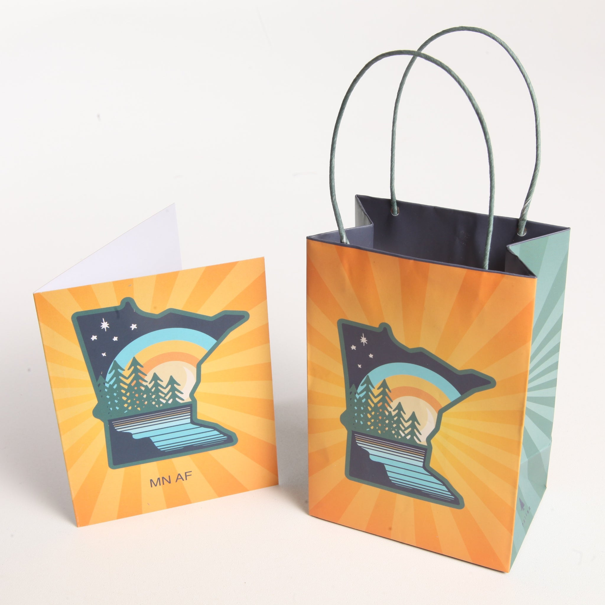 Yellow MN Card & Gift Bag