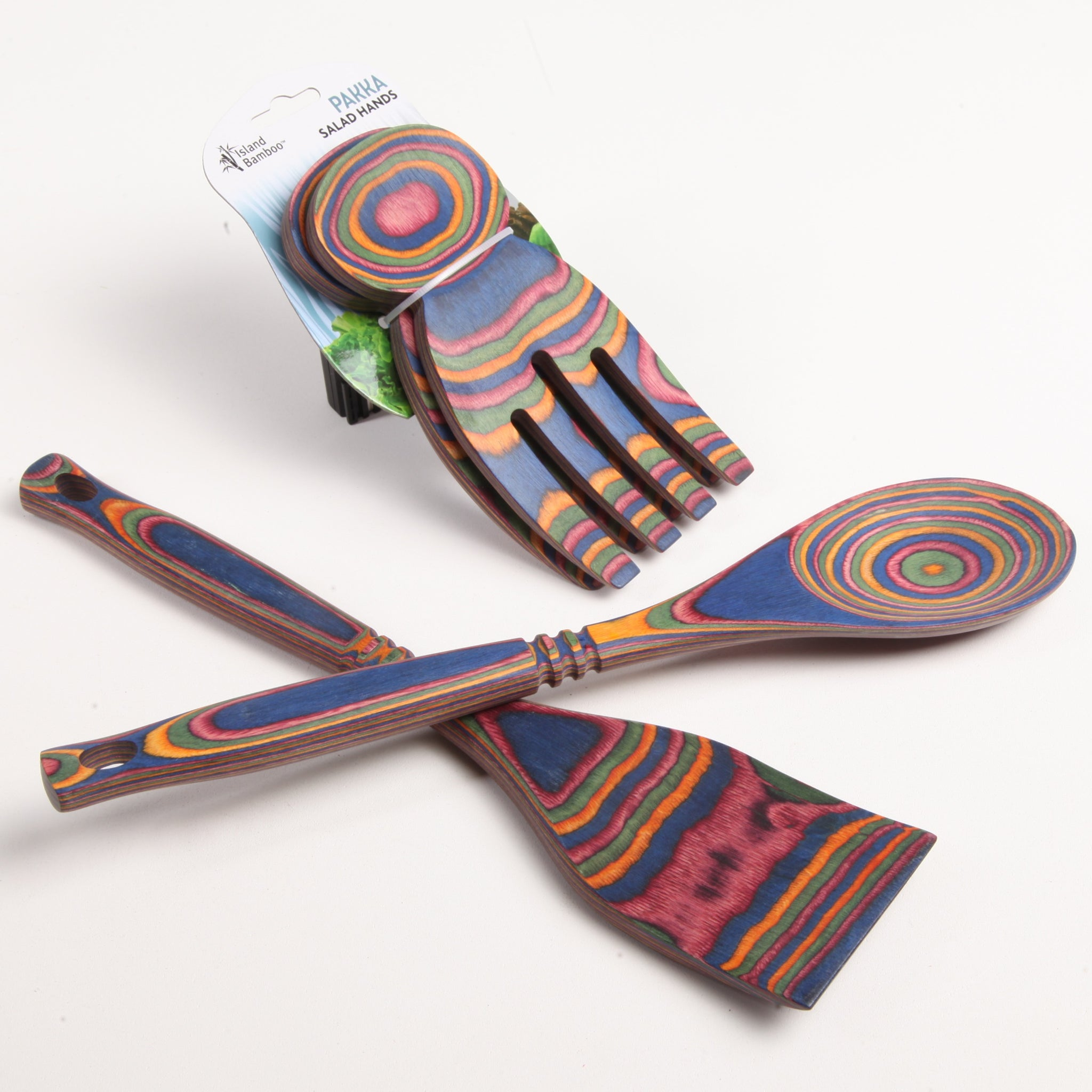 Rainbow Pakka Utensil Collection