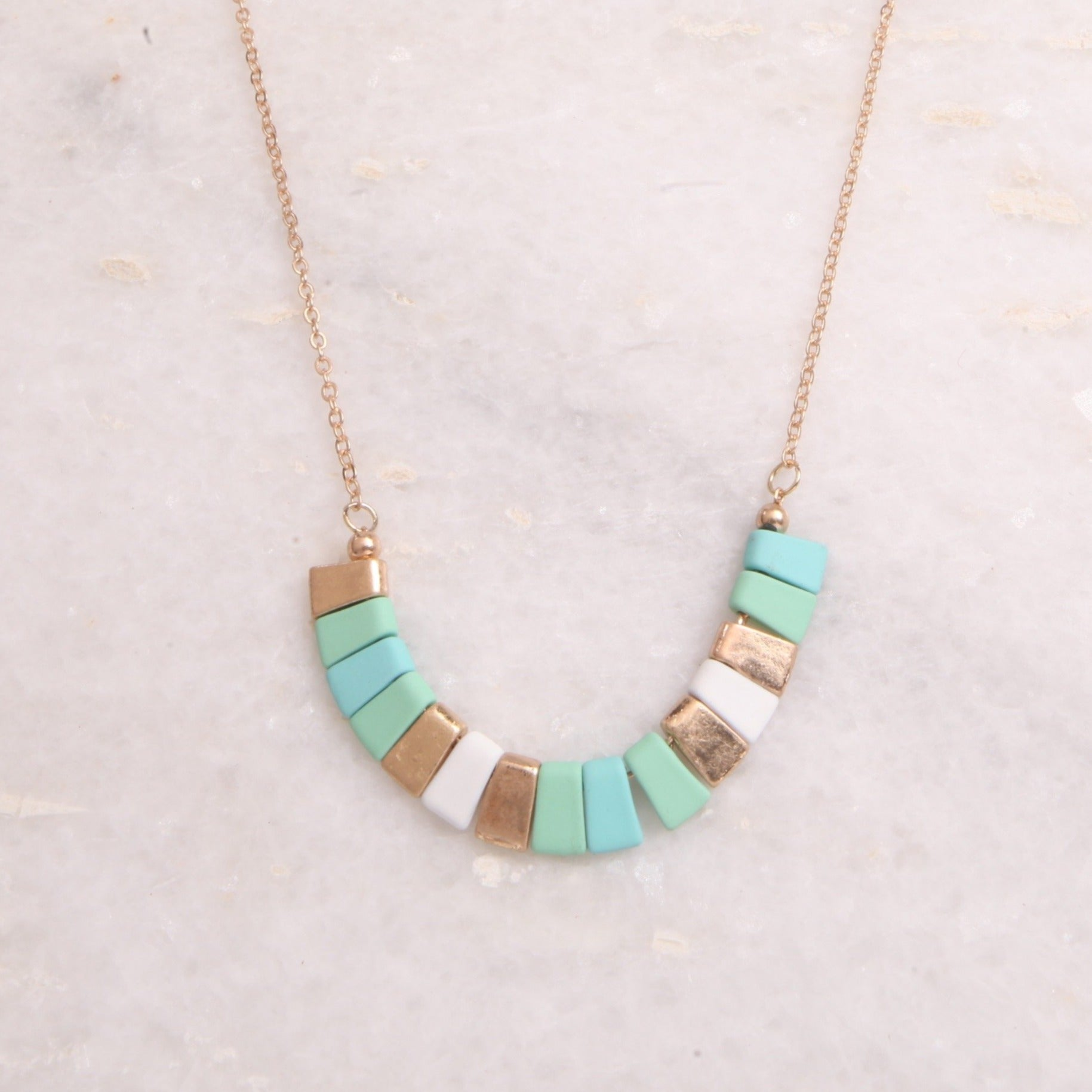 Turquoise Rectangles Necklace