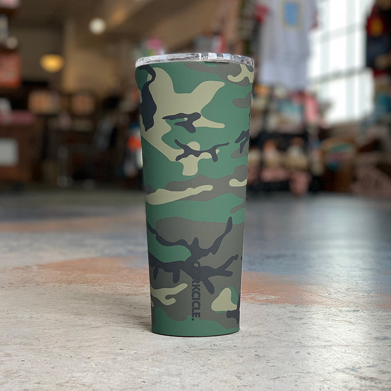 Woodland Camo Travel Tumbler