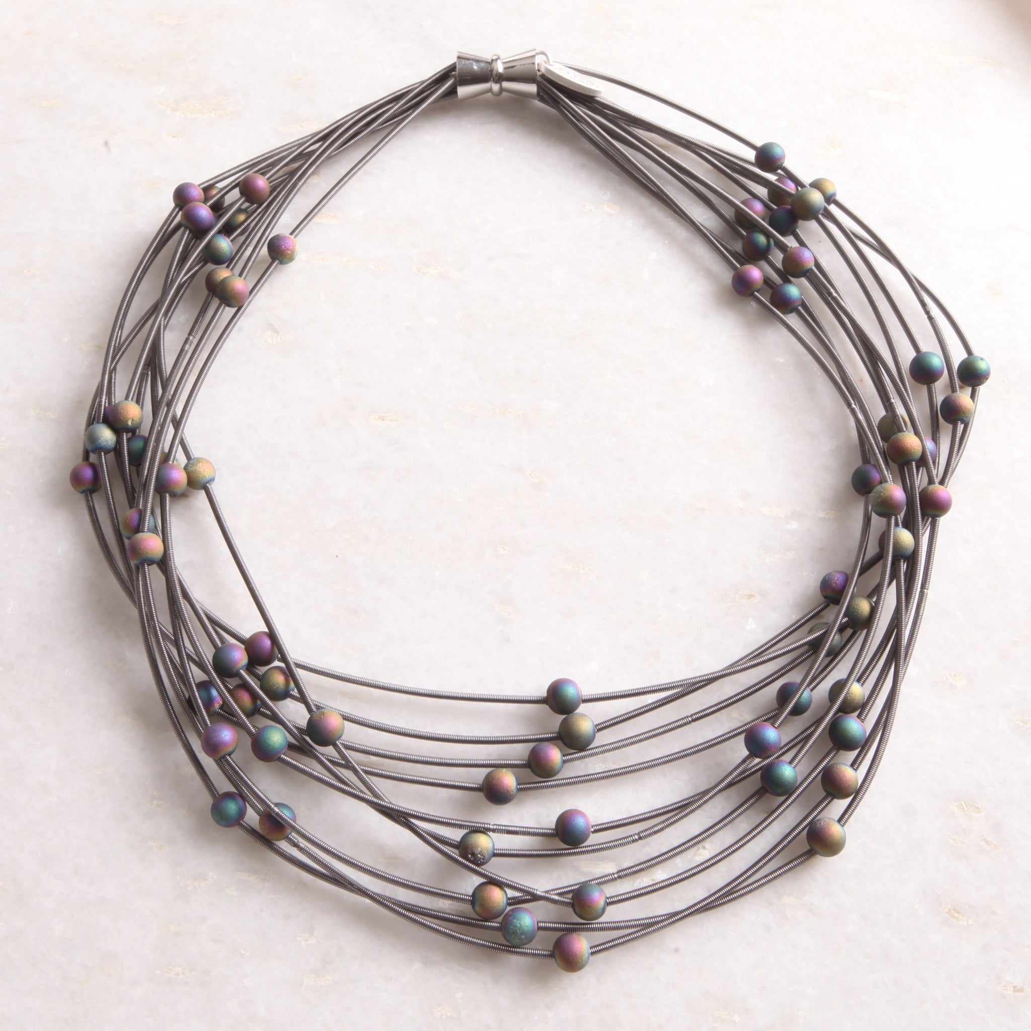 Slate & Iridescent Layer Necklace