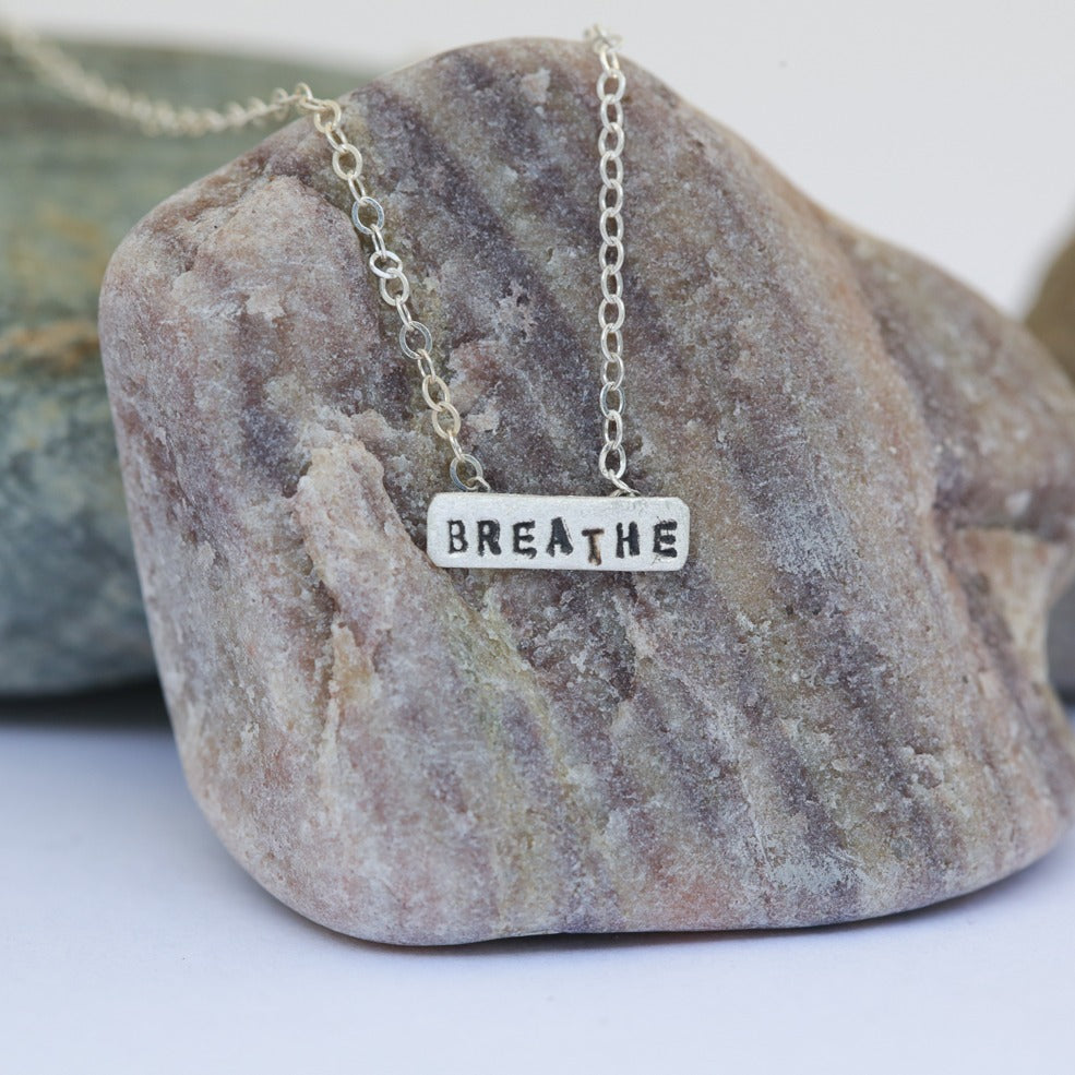 Breathe Tiny Necklace