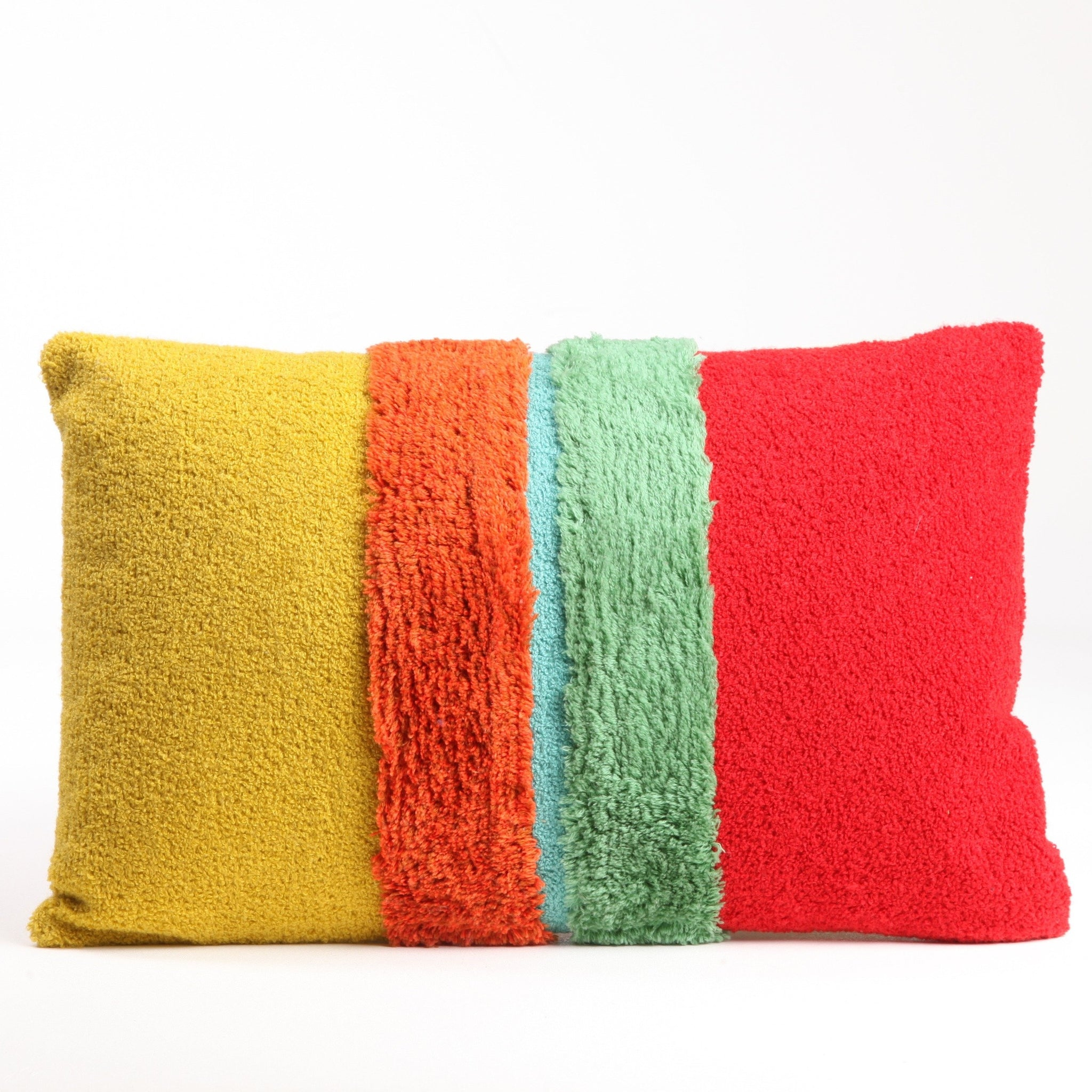 Bright Color Block Pillow
