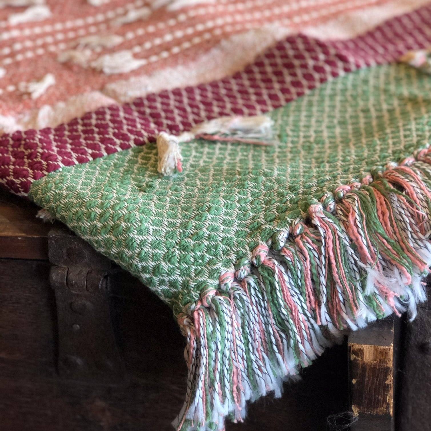 Tufted Throw Blanket With Tassels