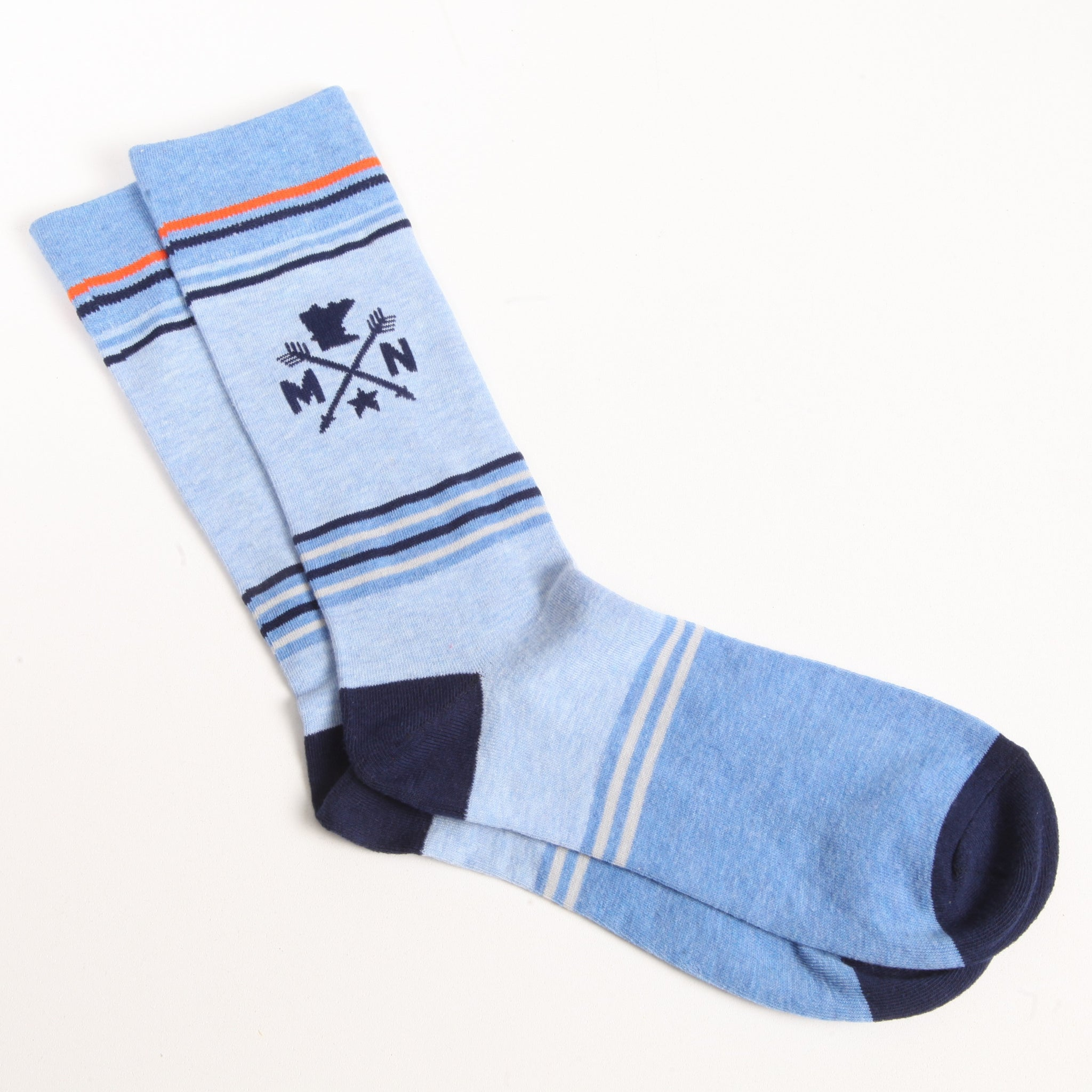 MN Blue Stripe Sock