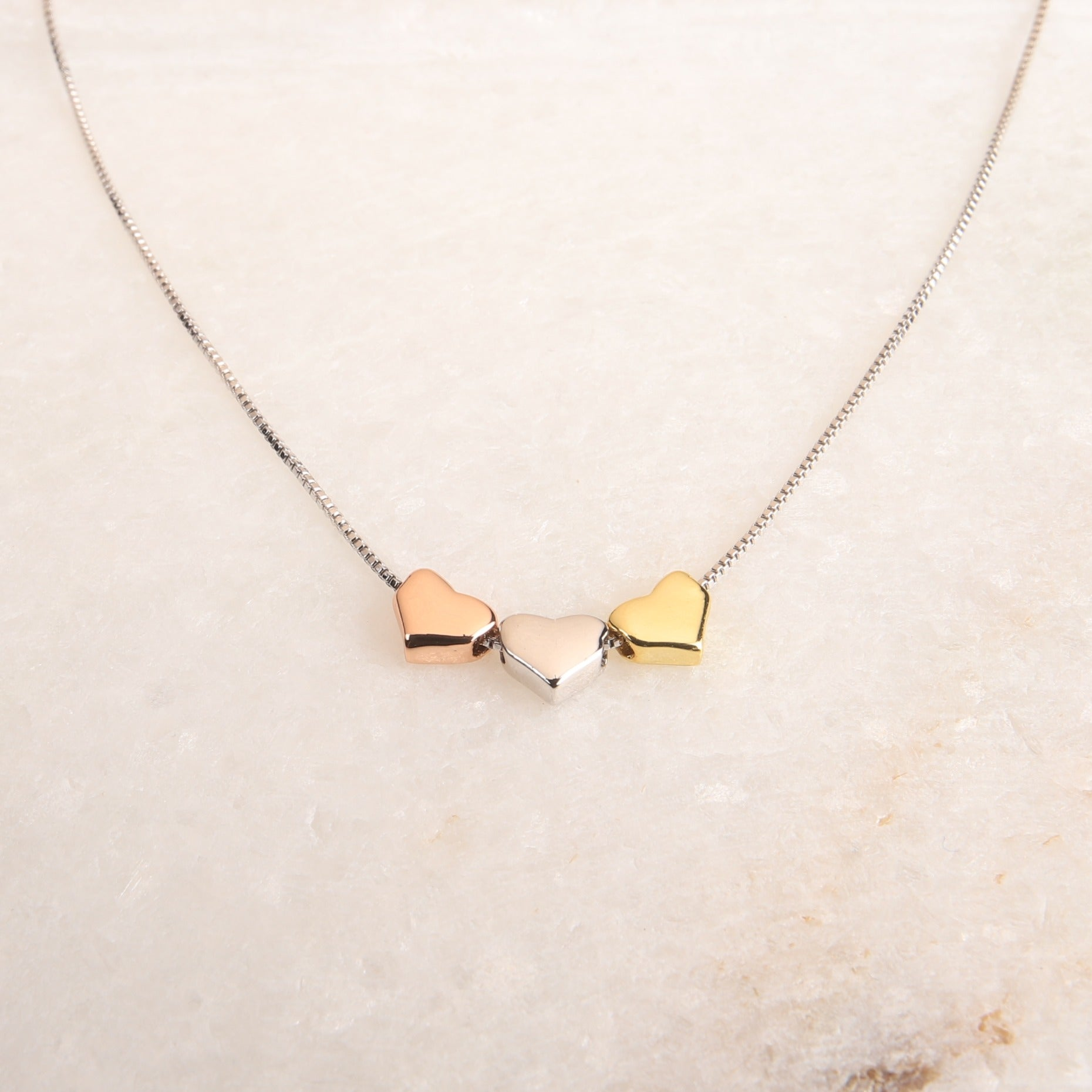 Triple Hearts Necklace