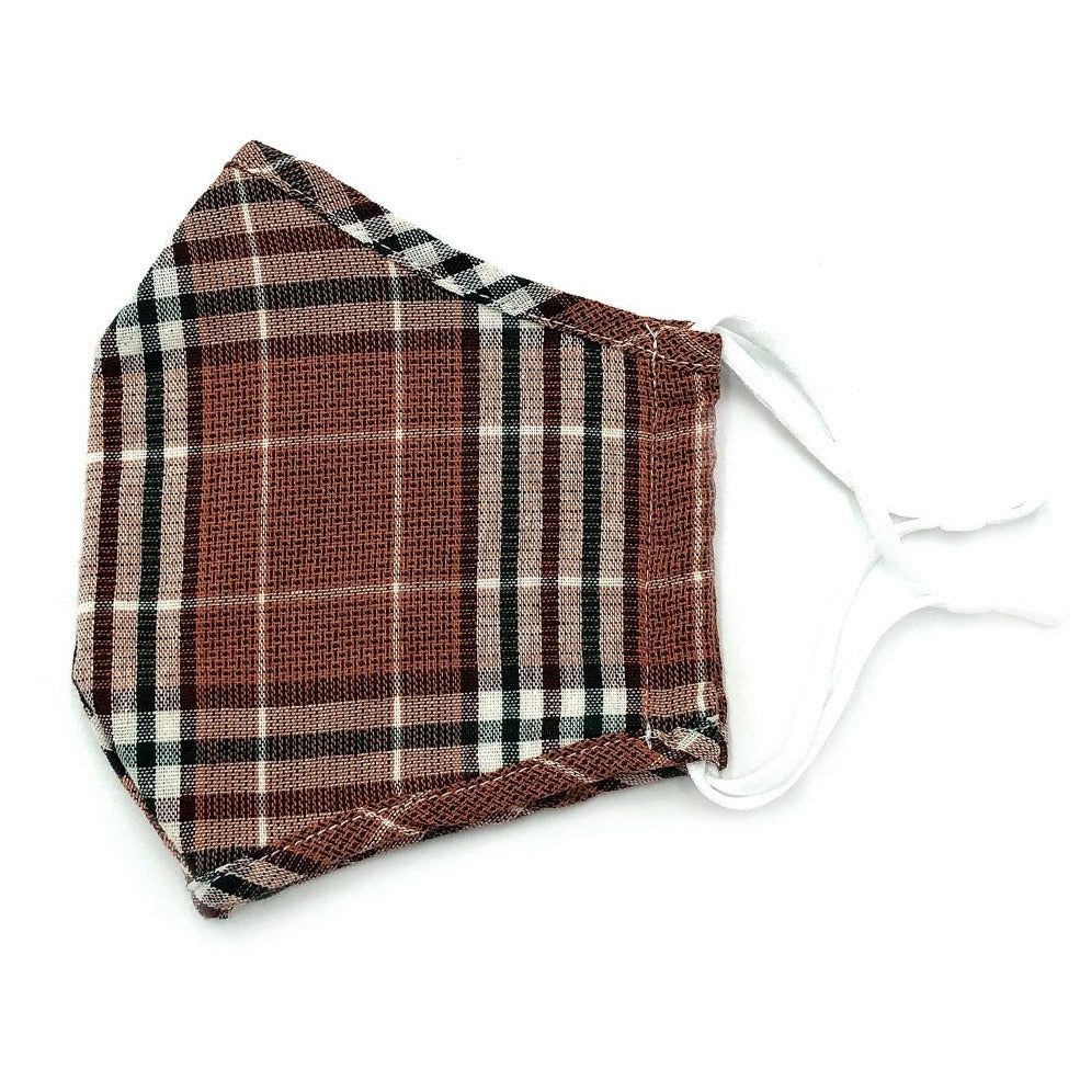 Maroon Plaid Face Mask