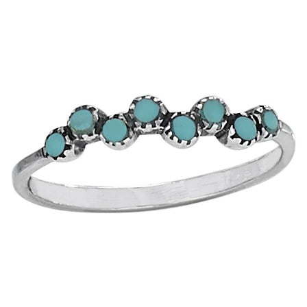 Tiny Turquoise Stacker Ring