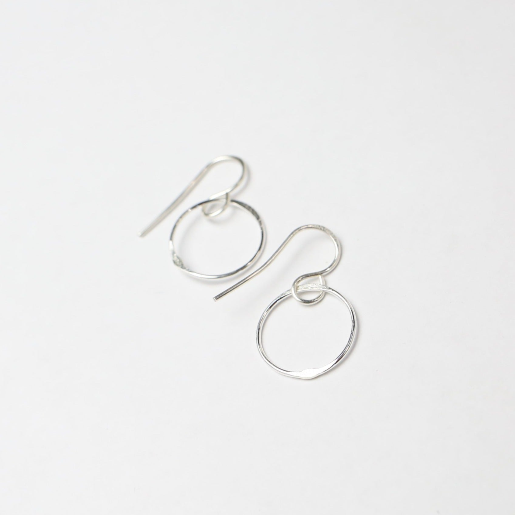 Small Silver Circle Earring