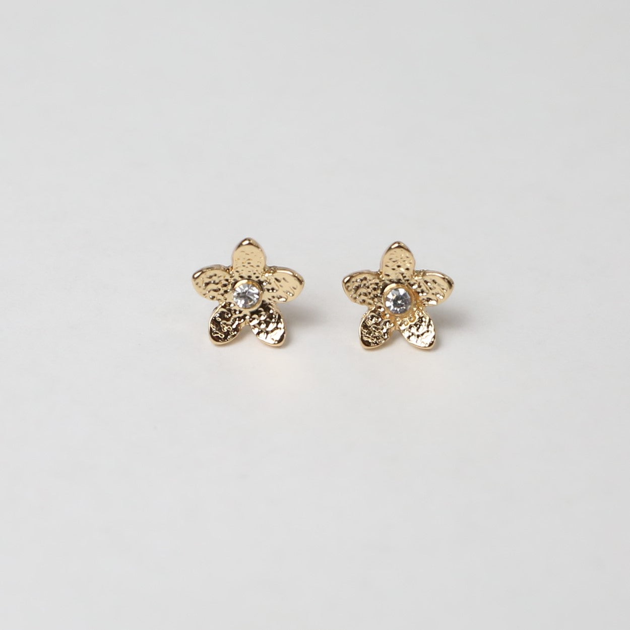 Gold Flower Post Earring