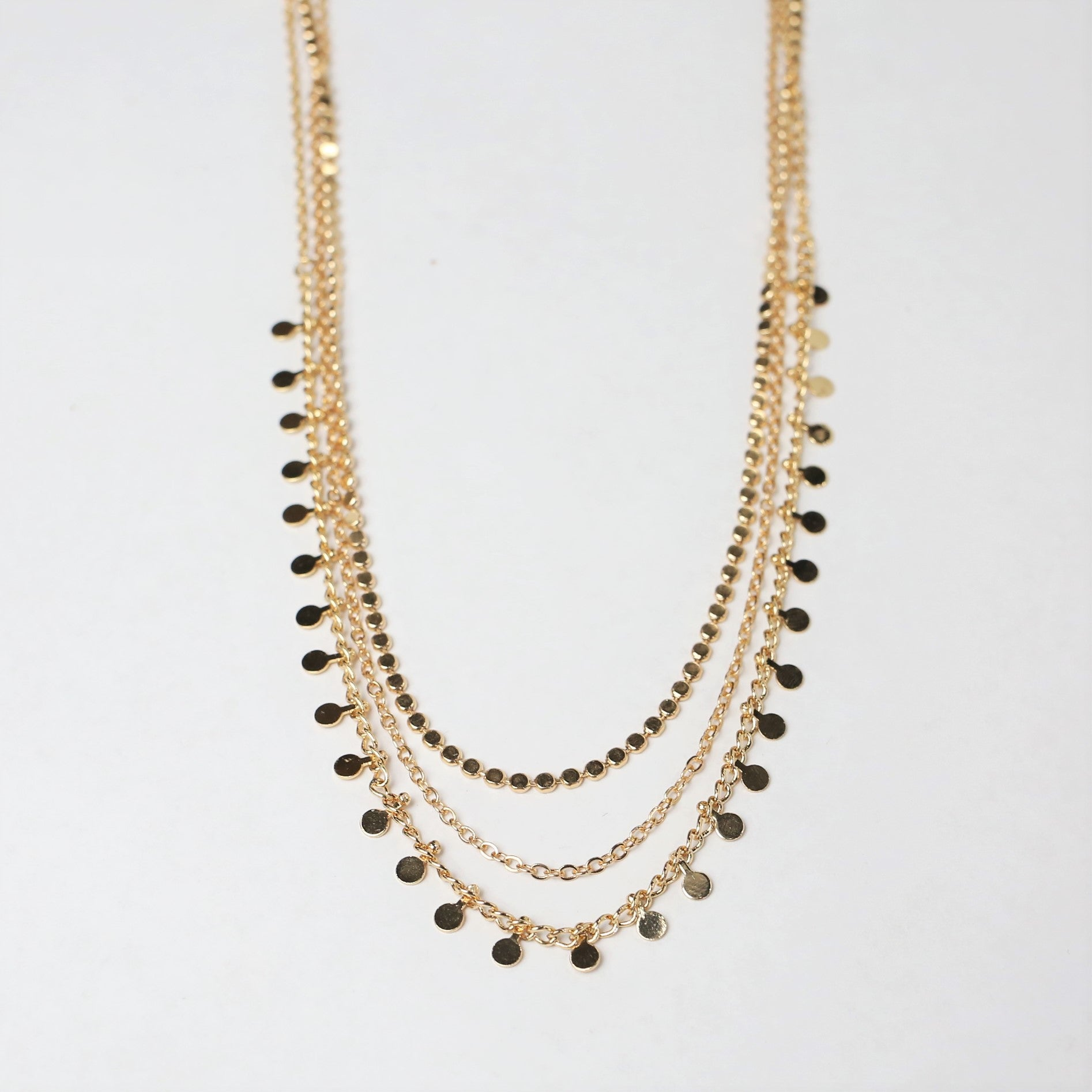 Three Strand Chain Necklace