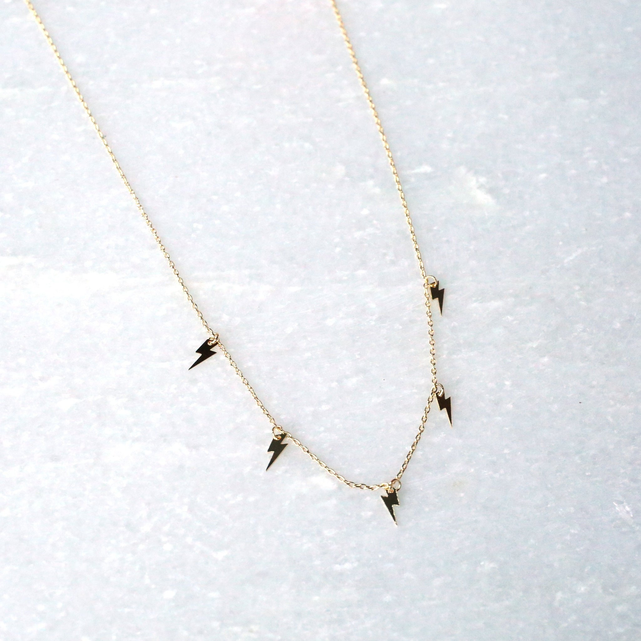 Tiny Lightning Bolt Necklace