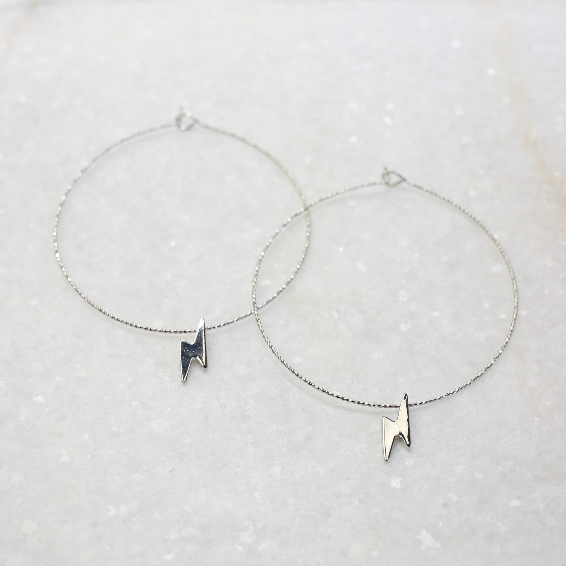 Tiny Bolt Hoop Earring