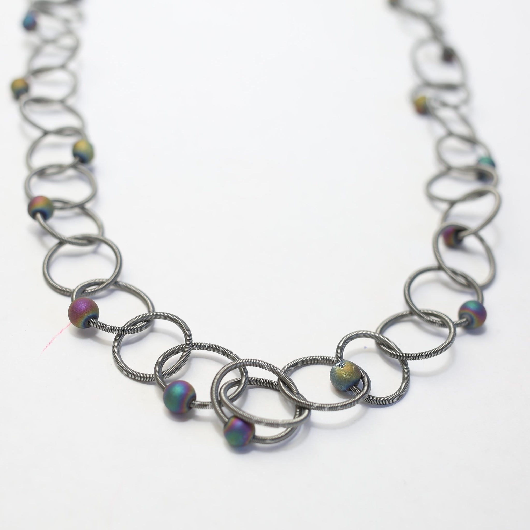 Loops and Geodes Necklace