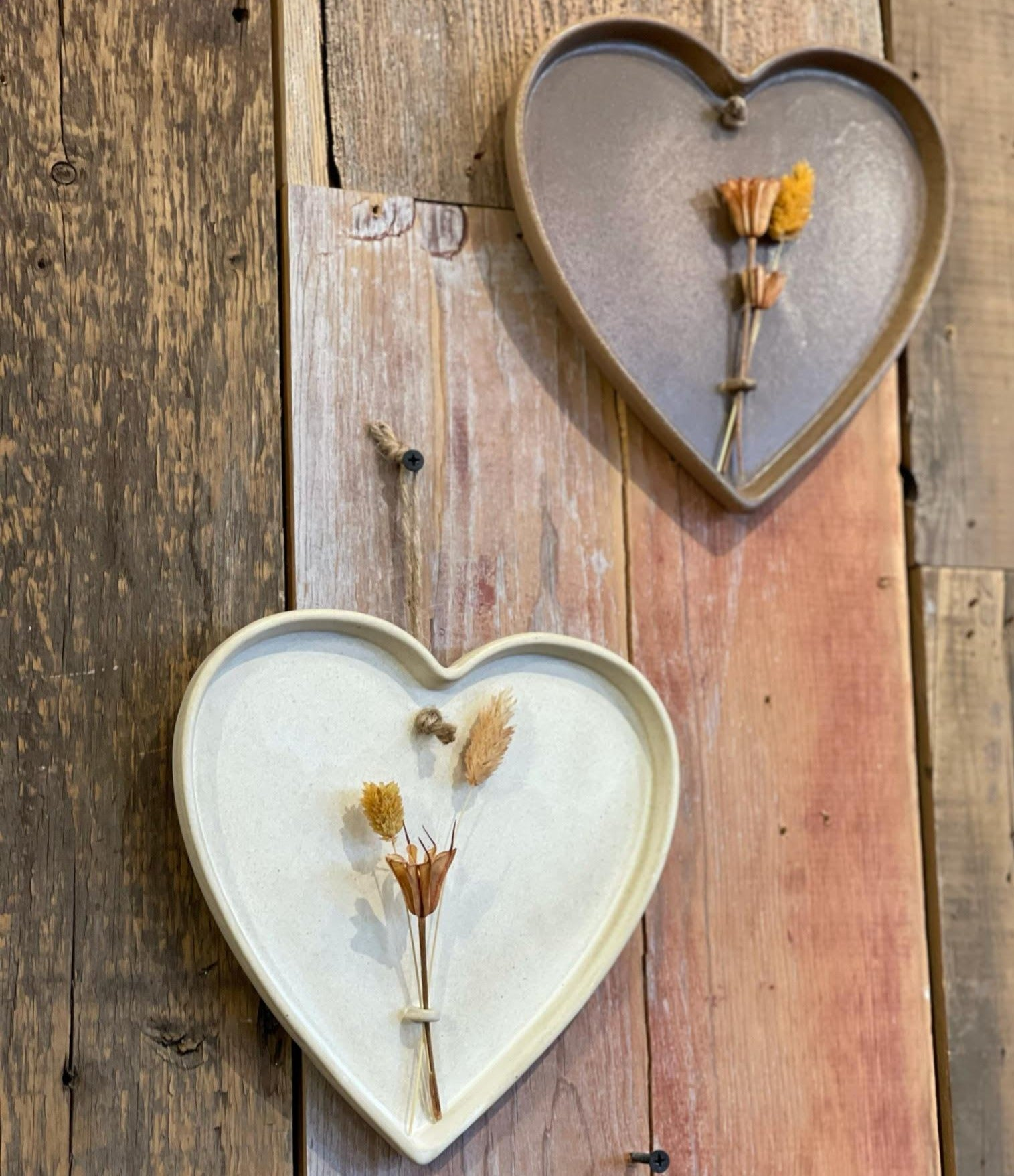 Heart Dried Flower Decor
