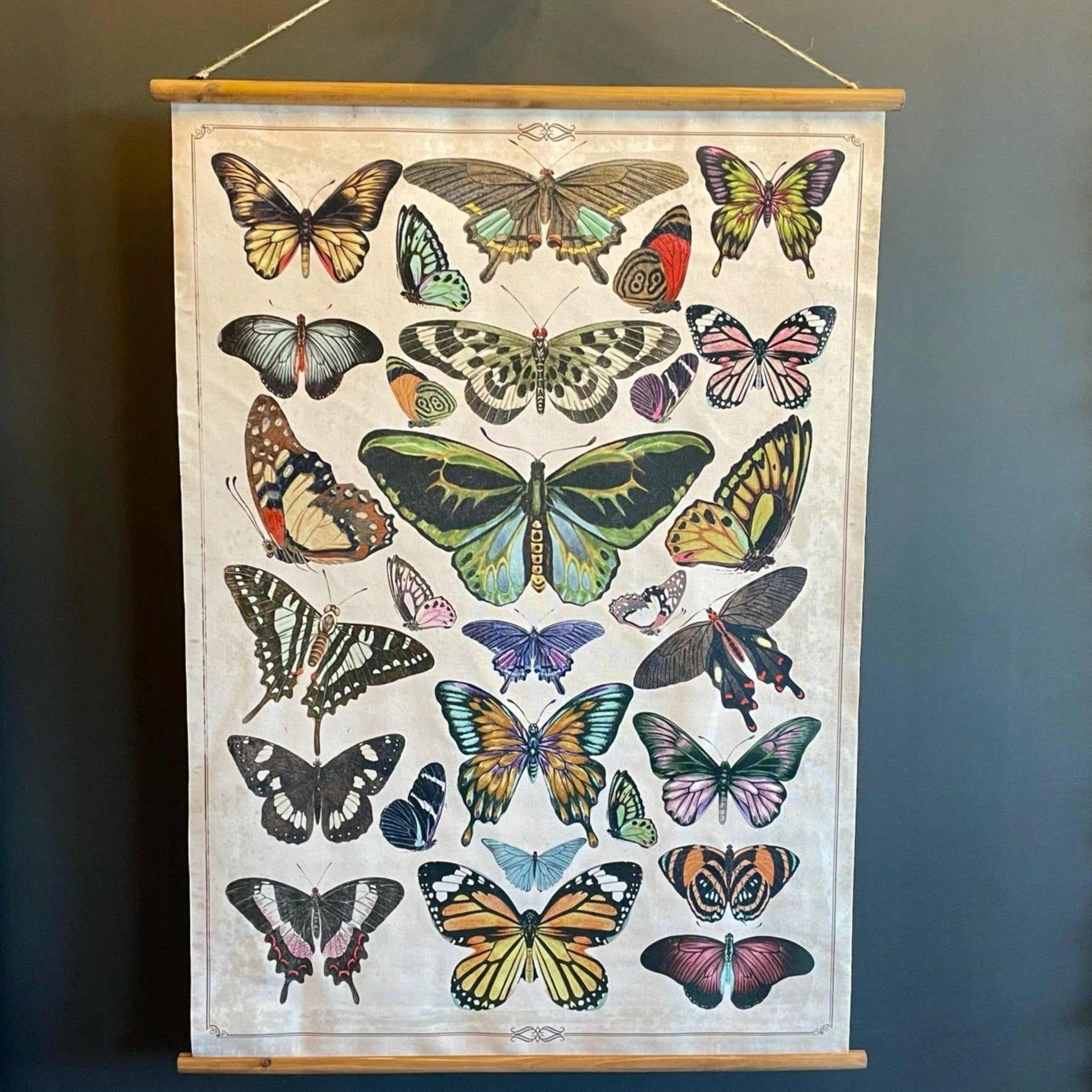 Butterfly Wall Art Scroll