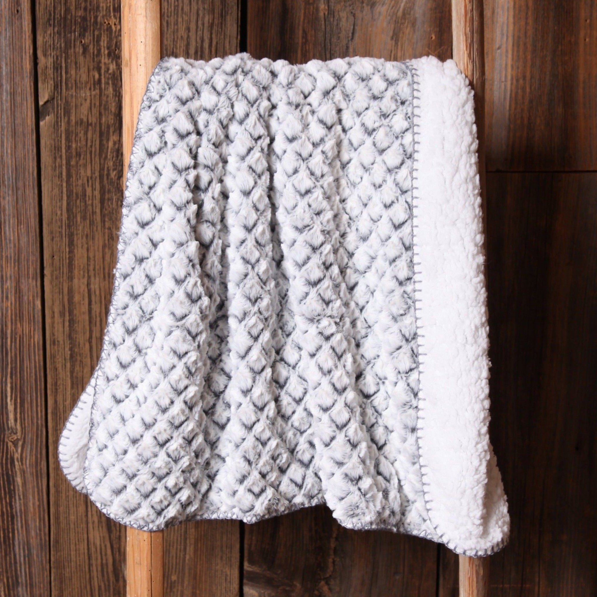 Grey Diamond Baby Blanket