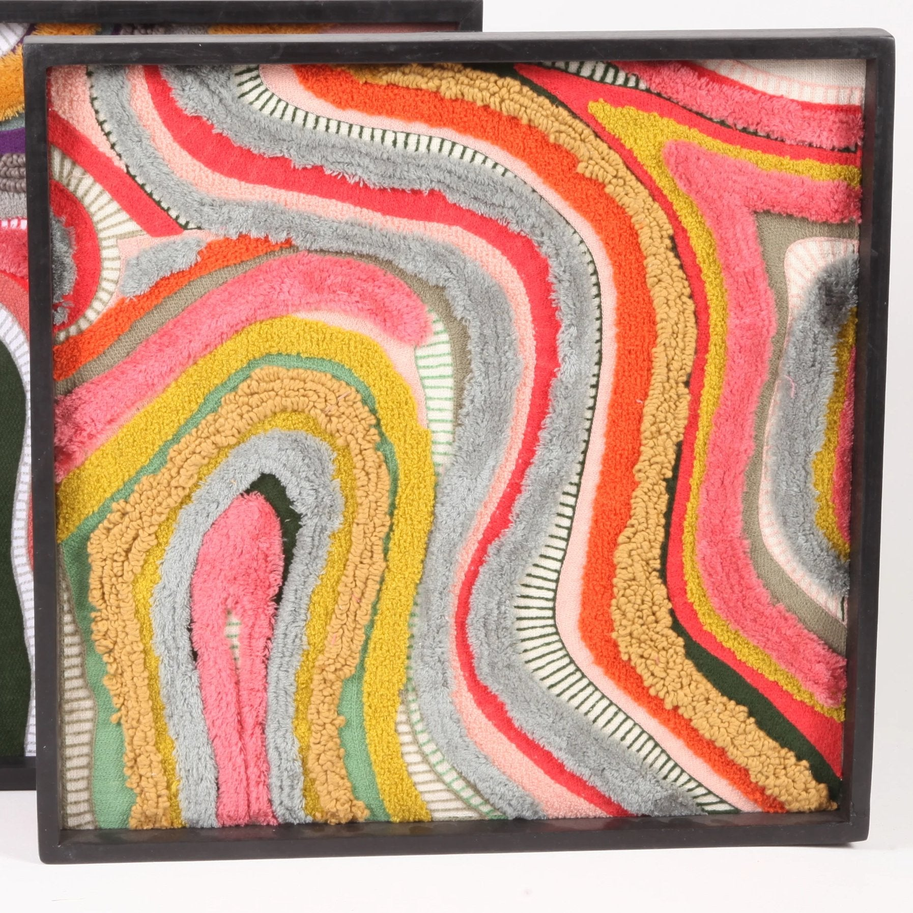 Abstract Embroidery Wall Art