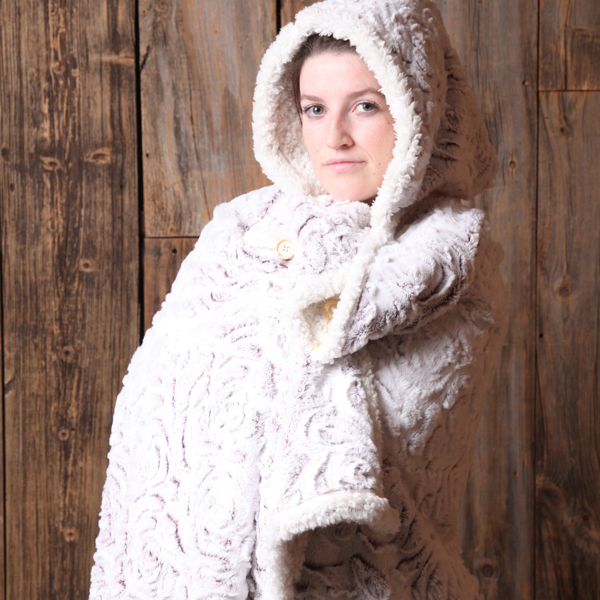 Wearable Sherpa Blanket - Rose