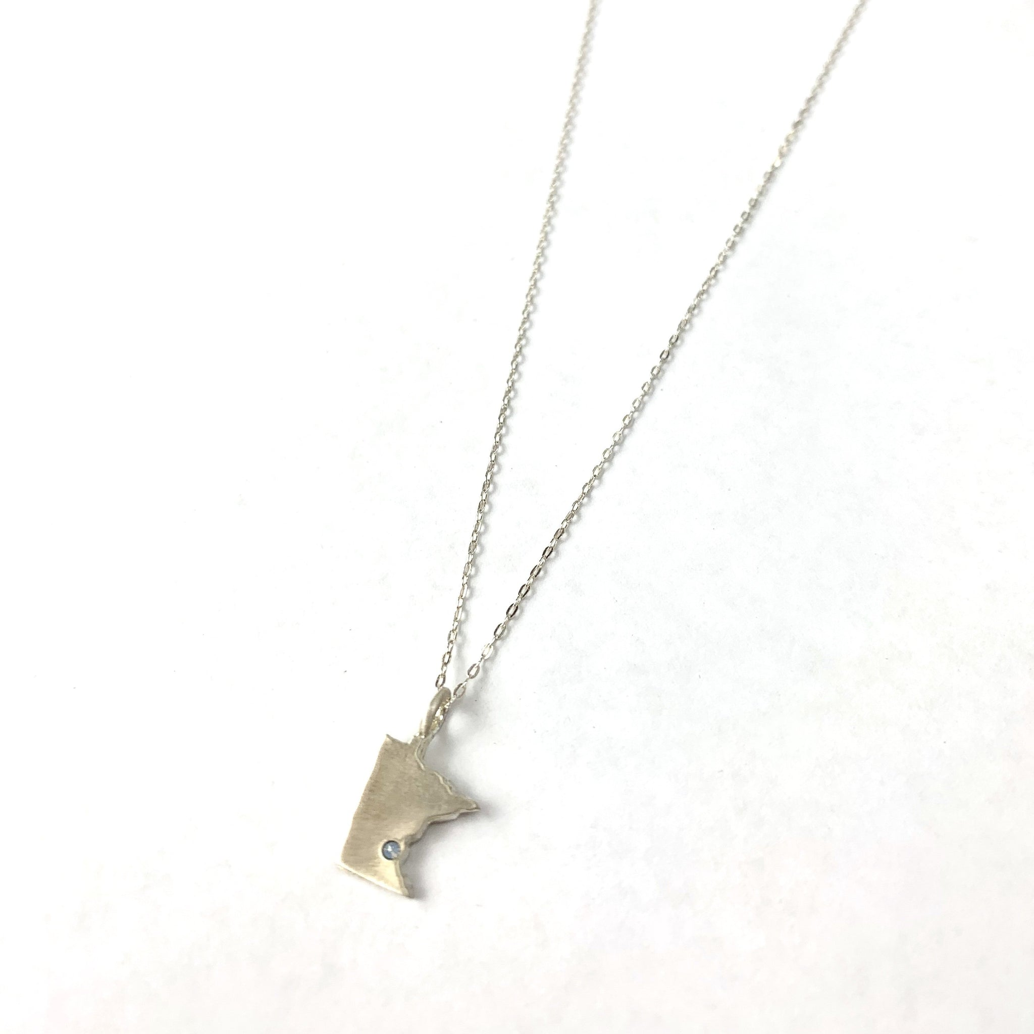 Silver MN Stone Necklace